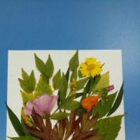 Мастер-класс по изготовлению аппликации из сухих листьев и цветов «Осенняя фантазия»