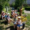 Оформление в детском саду участка в летний период.