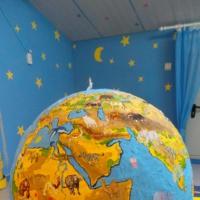 Поделка в технике папье-маше «Глобус— модель Земли»