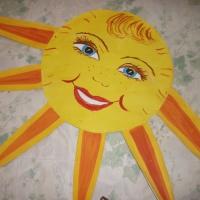 Солнышко для оформления группы своими руками