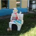 Тематическое оформление территории детского сада «Ожившая сказка»