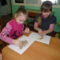 Экспериментирование с песком со старшими дошкольниками.