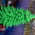 Оригами из бумаги «Новогодняя елочка». Поделка из цветной бумаги и картона «Веселая лошадка»