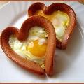 Сердечки из сосиски