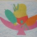 Художественное творчество детей старшей группы по лексической теме «Овощи»