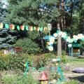Варианты оформления участков детского сада. Оформление участка к празднику Яблочный спас.
