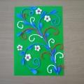 Декоративная ветка. Аппликация из разноцветной гофрированной бумаги