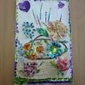 Корзина цветов из конфетных фантиков