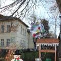 Новогоднее украшение холла и двора детского сада