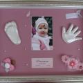 Подарок ребенку на память. «Слепки в багетной рамке»