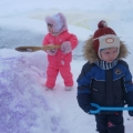 Зима на радость детям. Конкурс зимних построек.
