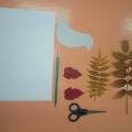 Мастер-класс. Поделка из природного материала (листья) «Голубь»