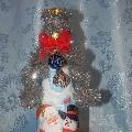 Волшебный новогодний декупаж бутылки