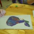 «Фрукты в вазе»— коллективная работа в технике торцевания