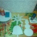 Мастер-класс «Новогодние игрушки-подвески из потолочной плитки»