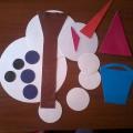 Дидактическая игра для младших дошкольников «Помоги Снеговику!»
