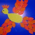 Аппликация «Птица Осень»