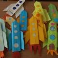 Поделки ко Дню Космонавтики (оригами, аппликация, мастер-класс)