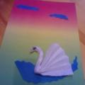 «Лебеди». Мастер-класс по изготовлению поделки из салфетки.