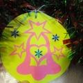 «Новогодние шары» в технике вытыканка