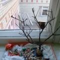 Композиция из природного материала и бумаги «Пришла весна!»