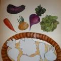 Авторская дидактическая игра «Собери овощи в корзинку»