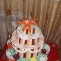 Торт из гофротрубочек
