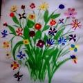 Аппликации из цветов к празднику мам.