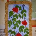 «Ветки рябины». Поделка из солёного теста с использованием природного материала