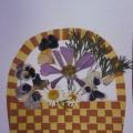 Работа «корзинка с цветами»— конкурсная работа про осень