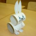 Мастер-класс: изготовление зайца для настольного театра из рулонов туалетной бумаги