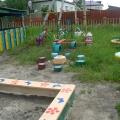 Оформление участка детского сада.
