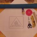Мастер-класс. Изготовление елочной игрушки «Пешеходный переход» в технике торцевания