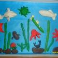 Пластилиновые картины на тему «Обитатели морских глубин».