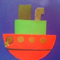 Конспект занятия (НОД) по аппликации «Плывёт, плывёт пароходик» для детей 5–6 лет. (Изготовление открытки к празднику)