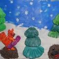 Пластилинография «Зима»