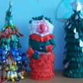 Новогодние ёлочки и игрушки своими руками из салфеток