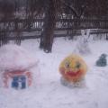 Наш участок в зимнее время