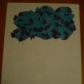 «Дождик» (обрывная аппликация с элементами рисования)