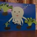 «Мой весёлый осьминог». Конспект занятия по объёмной аппликации для детей старшего дошкольного возраста