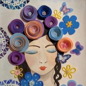 Конспект НОД по аппликации в младшей коррекционной группе «Спящая Флора» ко Дню флориста