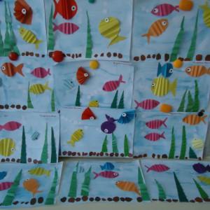 Детский мастер класс по аппликации «Рыбки в аквариуме»
